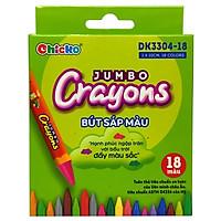 Bút Sáp Màu Chicko Jumbo Crayons - 18 Màu - DK3304-18