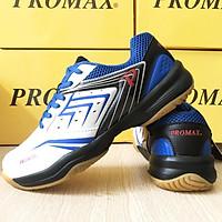 [MẪU MỚI] Giày promax PR19003 cao cấp thích hợp cho nam và nữ chơi thể thao bóng chuyền, cầu lông, bóng bàn, màu trắng xanh