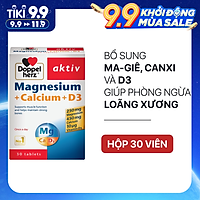 Viên uống bổ sung Canxi phòng ngừa loãng xương Doppelherz Magnesium + Calcium + D3 (Hộp 30 viên)