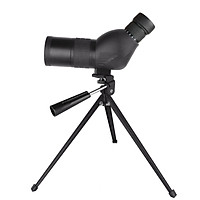 Beileshi Spotting Scope with Tripod HD Monocular Portable 12X-36X Zoom Eyepiece Straight or Angled for Bird Watching,