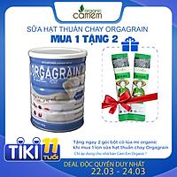 Sữa hạt thuần chay Orgagrain - Bổ sung đạm protein cho người ăn Chay - Sữa hạt 36 loại hạt và ngũ cốc tốt cho tim mạch và não bộ - Lon 900g