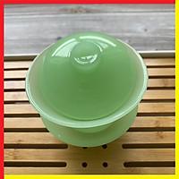 Ly Chén Uống Trà bằng Ngọc Cẩm Thạch màu xanh ngọc Cao cấp,Kích Thước 10 x 10,Dung tích 180ml,Thích hợp dùng để Thưởng trà búp hay trà gói,cafe,các loại nước lợi tiểu tốt cho sức khỏe - Chén Uống Trà màu Xanh ngọc