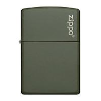 Bật Lửa Zippo 221zl Green Matte With Bật Lửa Zippo Logo
