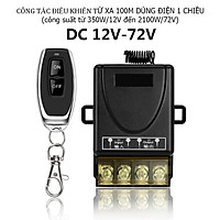 Công tắc điều khiển từ xa 12v 24v 36v 48v 60v 72v Rf 100m cho thiết bị điện 1 chiều DC 12 đến 72V, rơ le điều khiển từ xa, bộ điều khiển từ xa