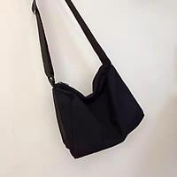 Túi xách tote vải canvas đeo chéo trơn đi học FROG-TV42