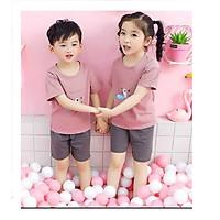 Bộ quần áo mùa hè cho các bé từ 3 - 10 tuổi in hình ngộ nghĩnh