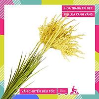 Hoa giả đẹp bụi lúa vàng trang trí nhà cửa thân - Cao 70cm