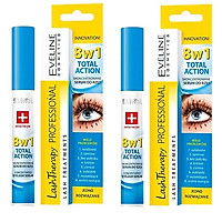 BỘ 2 HUYẾT THANH DƯỠNG MI EVELINE 8 IN 1 TOTAL ACTION LASH THERAPY PROFESSIONALL