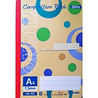 Combo 2 Sổ may Klong Composition Book 200 trang