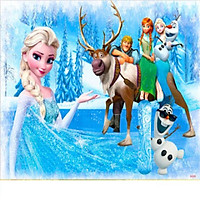 Tranh ghép gỗ 60 miếng - Công chúa Elsa