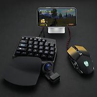 Bàn phím cơ 1 tay kiêm bộ chuyển đổi game Chơi Pubg PSB-P1  Có cần gạt Analog Chế độ ghìm tâm Kết nối Bluetooth - Hàng Chính Hãng
