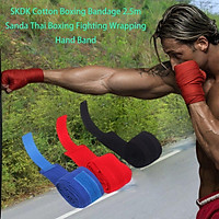 1 Pair/SET Comfortable Full Cotton Sports Strap Boxing Bandage Hand Gloves