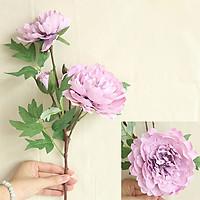 Hoa Giả Hoa Lụa -Combo 10 Cành Hoa Mẫu Đơn Loại 1