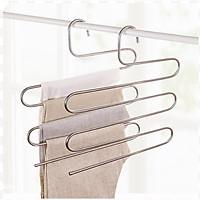 Móc treo đồ chữ S, móc treo quần áo đa năng kim loai bền đẹp tiết kiệm diện tích tủ tối ưu, siêu tiện dụng