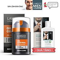 Collagen Skin White Dưỡng Trắng Kiểm Soát Nhờn Ngừa Mụn, Cấp Ẩm 50ml cho Nam TẶNG Gel Vệ Sinh Vùng Kín Nam 100ml LANGCE