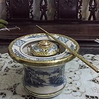 Điếu bát men rạn cổ gốm sứ Gia Hưng Bát Tràng