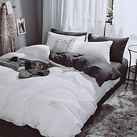 Bộ chăn ga trải giường 4 món 2 áo gối 1 ga giường 1 chăn làm bằng Sợi Polyester mềm mại thoáng mát