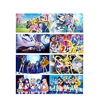 Poster 8 tấm A4 Sailor Moon Thủy Thủ Mặt Trăng anime tranh treo album ảnh in hình đẹp (MẪU GIAO NGẪU NHIÊN)