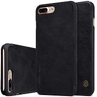 Bao da da thật iPhone 7 Plus / iPhone 8 Plus chính hãng Nillkin Qin sang trọng cao cấp có ngăn đựng thẻ - Sản phẩm chính hãng