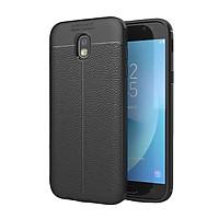 Ốp lưng điện thoại Samsung J7 Pro silicone vân da auto  - Chính hãng