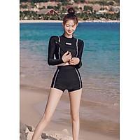 Đồ Bơi Tay Dài Hai Mảnh Năng Động Trẻ Trung AT158 MayHouse Áo Croptop Thun Co Giãn Không Phai Màu