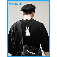 Áo thun tay lỡ Nomac Unisex in họa tiết dễ thương hình chú thỏ AT0735 / Freesize/ Phù hợp cả nam và nữ.