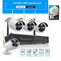 Bộ 4 Camera WIFI 1080P + Đầu Ghi NVR HD Tặng Ổ Cứng 250GB