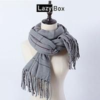 Khăn choàng khăn len quàng cổ cho nữ LB18-Xám
