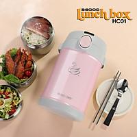 Bộ Hộp Cơm Giữ Nhiệt 2GOOD Lunch Box HC01 (2000ml) - Kèm Muỗng và Đũa Inox 304