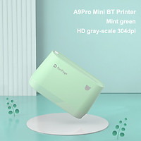 PeriPage A9Pro Portable HD Pocket Printer BT Inkless Printer with USB Cable for Picture Photo Documentations Printing