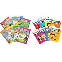 Combo sách dành cho bé: Bé Học IQ - Phát Triển Trí Tuệ Cho Bé (Bộ Túi 8 Cuốn ) và Tô Màu Nối Số Thông Minh Cho Bé 3-6 Tuổi (Bộ Túi 8 Cuốn) Tặng thẻ flashcard như hình