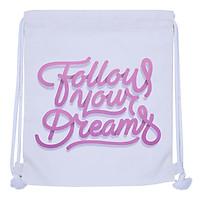 Túi Dây Rút Canvas Cá Chép - Follow Your Dreams (35 x 40 cm)