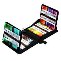 Dual Tip Brush Pens 120 Colors Art Markers Set with Brush and Fine Tips Colored Pen for Children Adults Artists Drawing