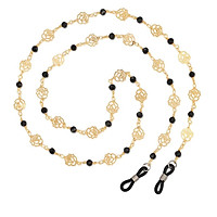 Lady Girls Eyeglass Necklace Chain Eyewear Necklace Retainer Rose Pattern