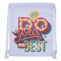 Túi Dây Rút Canvas Cá Chép - Just Do Your Best (35 x 40 cm)