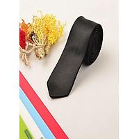 Cà Vạt Nam Nữ Bản 5cm Màu Đen