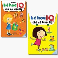 Sách - Combo 2 Cuốn Bé Học IQ Chữ Số Thần Kỳ Và Chữ Cái Kỳ Diệu - Dành Cho 3 - 6 Tuổi
