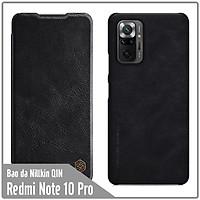 Bao da cho Xiaomi Redmi Note 10 Pro Nillkin Qin - Hàng nhập khẩu