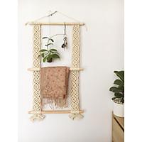 Thanh treo đồ 2 tầng bằng gỗ dành cho phòng ngủ, phòng khách