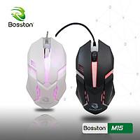 Chuột có dây USB Bosston LED M15 - Hàng chính hãng - Màu ngẫu nhiên