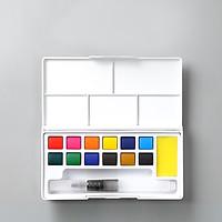 Màu Nước Nén Water Color BORRENCE Cao Cấp Tiện Lợi (Tặng kèm bút nước + 1 palette + miếng mút )