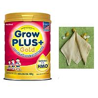Sữa bột GROW PLUS GOLD 900g có HMO - của NutiFood - tặng kèm khăn sữa bằng đũi tơ tằm mềm mịn