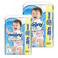 [Combo 2] Bỉm - Tã quần Moony Blue Jumbo size L Bé trai 54 miếng (Cho bé 9~14kg)