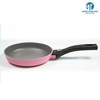 Chảo Hoa Cúc Họa Mi phủ 7 lớp Ceramic chống dính Happy Home Pro màu hồng Size 20