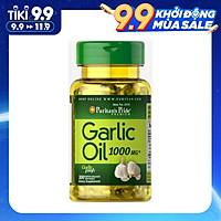 Viên Uống Tinh Dầu Tỏi Puritan's Pride Garlic Oil 1000mg 100 Viên Của Mỹ là Kháng Sinh Tự Nhiên, Tăng Đề Kháng và Hệ Miễn Dịch, Ngăn Ung Thư, Ổn Định Huyết Áp, Giảm Cholesterol, Ngừa Cảm Cúm Theo Mùa