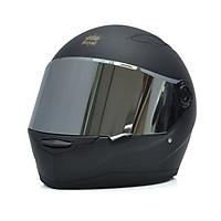 Nón Fullface Phượt _ Mũ Bảo Hiểm Đẹp Moto Royal Đen nhám _ Kính chống bụi, chống chói màu ngẫu nhiên