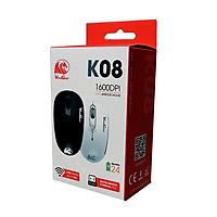 Chuột không dây VINAGEAR K08 (Đen) 1600dpi siêu nhạy, tiết kiệm pin