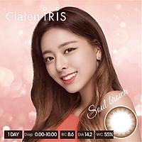 Kính áp tròng Hàn Quốc Clalen Iris dùng 1 ngày màu Soul Brown
