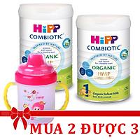 Combo 2 lon Sữa bột Hipp số 1 Organic Combiotic HMP 800gr Mẫu Mới tách tem tặng CỐC TẬP UỐNG FARLIN