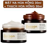 Bộ mặt nạ hoa hồng cocoon 30ml + thạch hoa hồng dưỡng ẩm cocoon 30ml